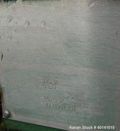 "Used: Steel tank and Fabricators tank, 15,000 gallon, 316 L. 1/4"" shellL, 12' diameter X 17'6"" high, flat top and bottom,  v..."