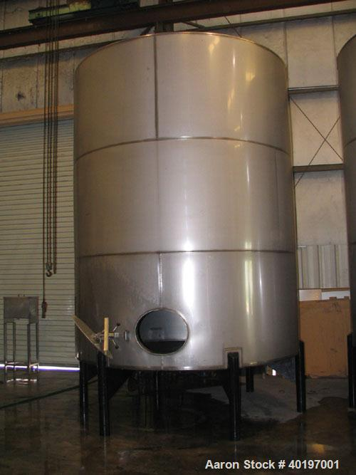 """Unused-NEW: 6,000 gallon, 304 stainless steel, vertical tank. 9'6"""" diameter x 12'0"""" high side shell (approximately 15' high ..."""