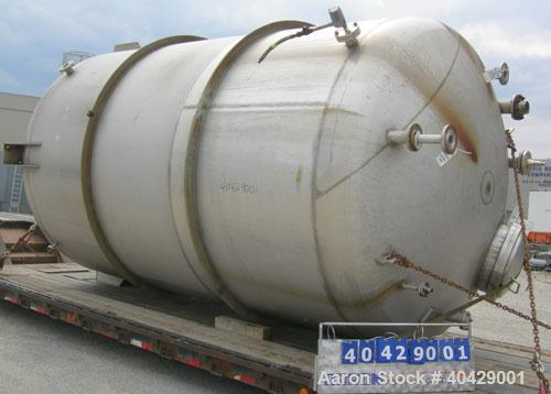 """Used- Northland Stainless pressure tank, 6500 gallon, 316 stainless steel, vertical. 107 3/8"""" diameter x 13' straight side, ..."""