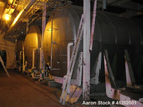 "Used- USED: Tank, 42,748 gallon, 304 stainless steel. 13'3"" diameter x  approximately 41' long. Horizontal on carbon steel c..."
