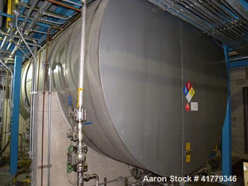 "Used- Grunau Metals (8) Compartment Storage Tank, 15,000 Total Gallons, 304 Stainless Steel, Horizontal. 126"" diameter x 280..."