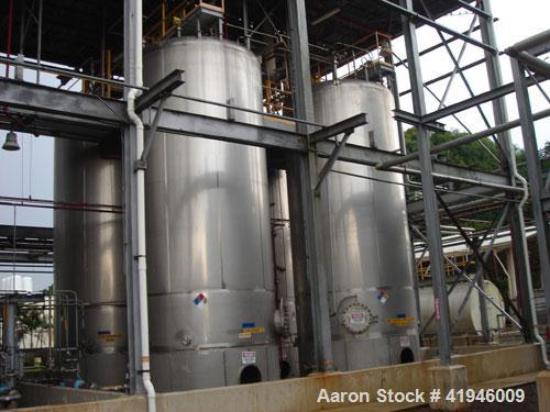 Used-Enerfab Approximately 22,300 Gallon vertical 304L stainless steel tank. Tank rated for 0.90 specific gravity. Design te...