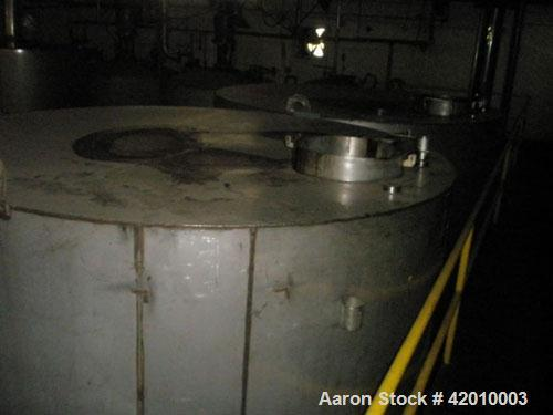 Unused- 12,000 Gallon Capacity Sugar Tank, stainless steel contacts, 12' diameter x 15' straight side, flat top and bottom, ...