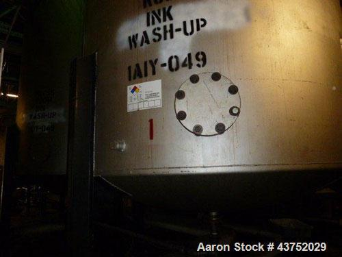 """Used- Tank, Approximately 7000 Gallon, Stainless Steel. Approximately 102"""" Diameter x 192"""" straight side. Dished top and bot..."""
