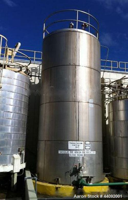 Used-Industrial Stainless Miscellaneous 9,000 Gallon DIW Water Tank V-46