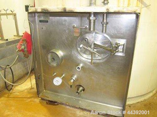 Used-Dairy Craft 7000 gallon silo tank, s/n 11056-3, small ripple in top corner of interior