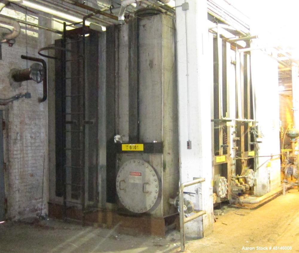 Used-Imperial Steel Rectangular Dual Compartment Storage Tank, approximately 11,374 gallons, stainless steel.  Approximately...