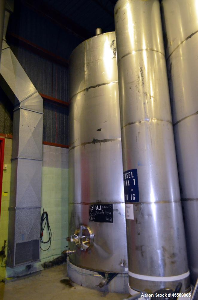 Used 7250 Gallon Stainless Steel Vertical Tank