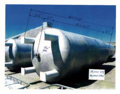 """Used- Approximately 10,000 Gallon 304SS Vertical Storage Tank. Approximately 9' diameter x 19'6"""" straight side. 26' overall ..."""