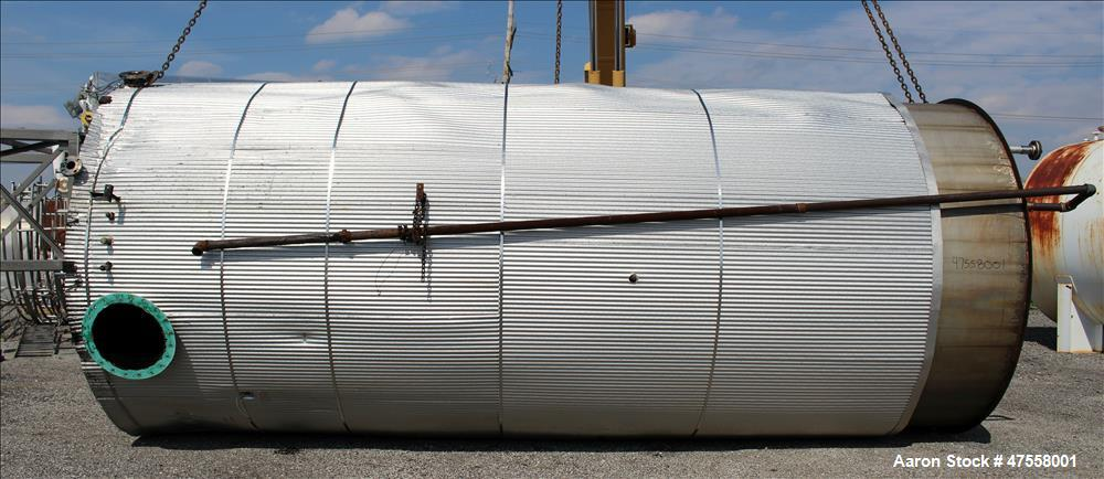 Used- Insulated Tank, Approximate 10,000 Gallon, 304 Stainless Steel, Vertical.