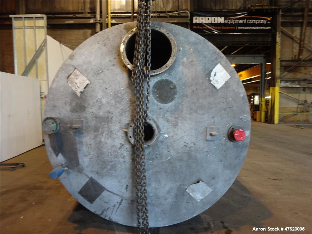 Used- Tank, Approximate 5,5000 Gallon, 304 Stainless Steel, Vertical.