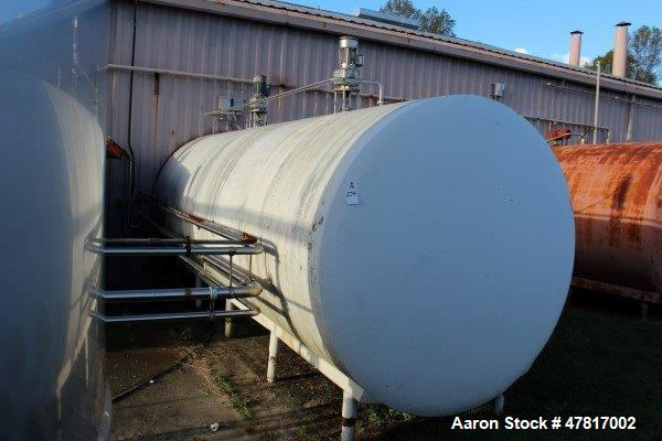 "Used-6,400 Gallon Stainless Steel Insulated, Horizontal Storage Tank, 7'4"" X 20'6"""