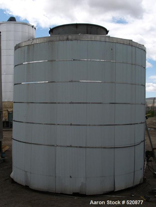 USED: 5,000 gallon stainless steel tank, 12' wide x 11' high.Insulated, was heated with steam. Manufactured in 1985.