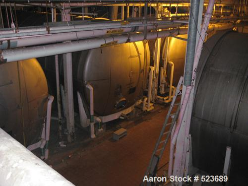 """Used- Tank, 42,748 Gallon, 304 Stainless Steel, Horizontal. 13'3"""" diameter x approximately 41' long. Horizontal on carbon st..."""