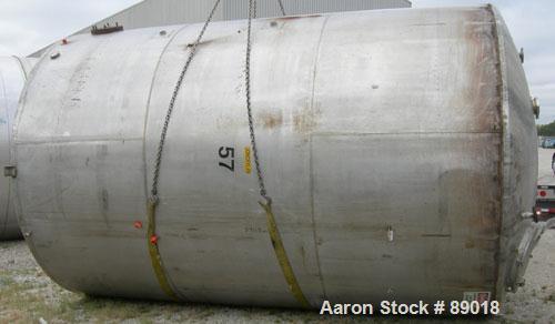 """USED: Tank, 11,700 gallon, 304 stainless steel, vertical. Approximately 132"""" diameter x 198"""" straight side. Dished top, flat..."""