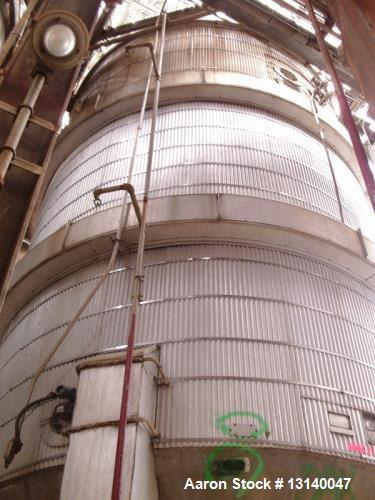 "Used- Alloy Fabricators 316 Stainless Steel Pressure Mix Tank, Approximately 16,000 Gallon.  12 diameter x 19-3"" high straig..."