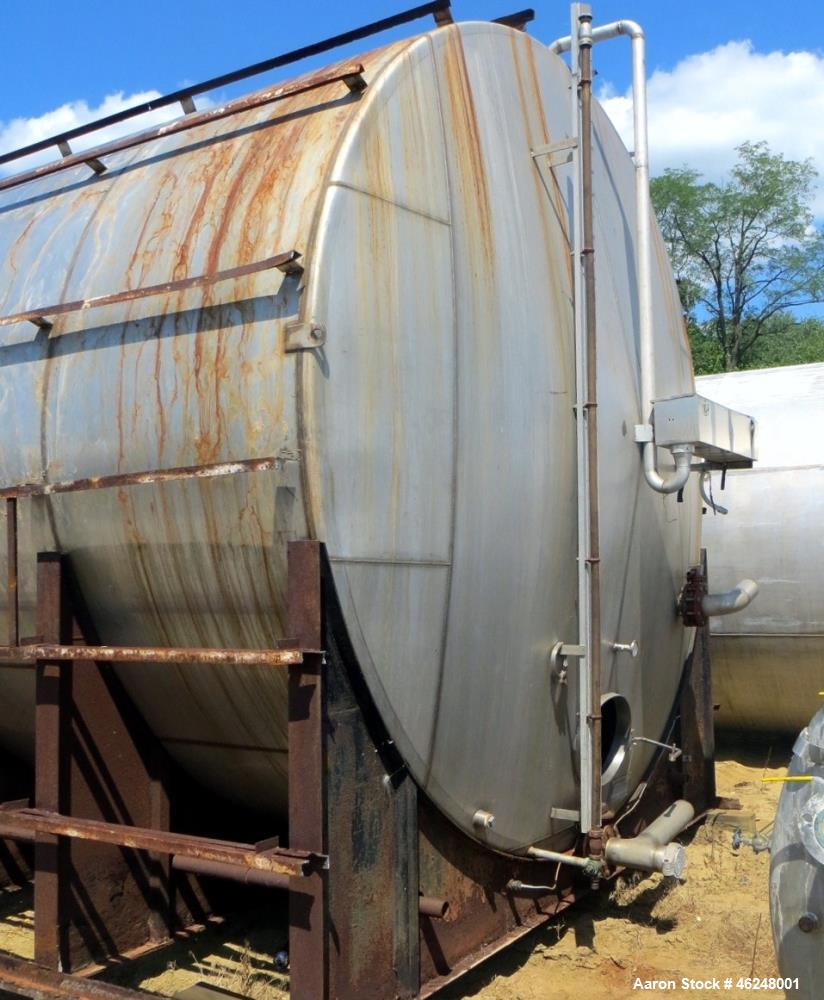 """Used- American Stainless Steel Products Tank, 37,000 Gallon, Stainless Steel, Horizontal. Approximately 144"""" diameter x 576""""..."""