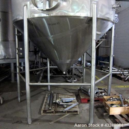 """Used- Apache Tank, 6500 Gallon, 316 Stainless Steel, Vertical. Approximate 102"""" diameter x 172"""" straight side. Dished top, 7..."""