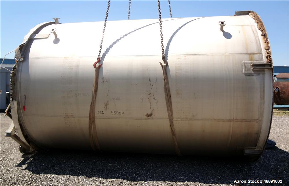 """Used- Bendel Corp. Tank, 11,000 Gallon, 304 Stainless Steel, Vertical. Approximately 132"""" diameter x 186"""" straight side. Fla..."""