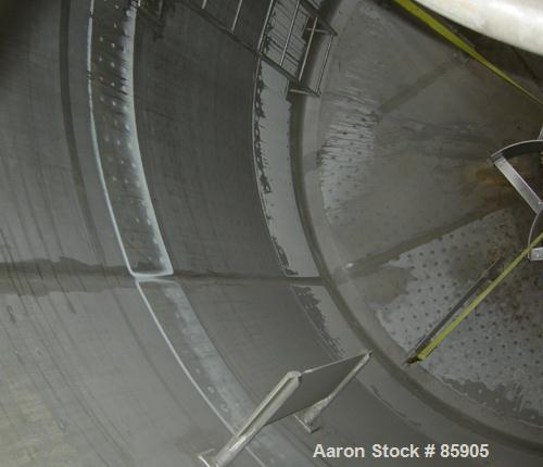 """USED: Bishopric Products Co jacketed tank, 12,000 gallon, 304 stainless steel, vertical. 12'6"""" diameter x 12' straight side...."""