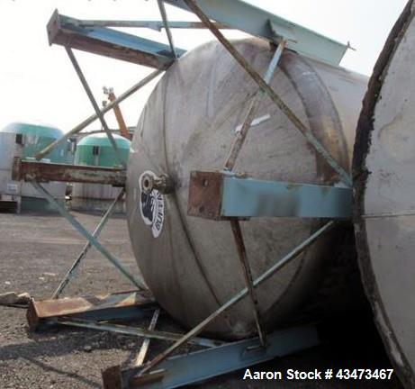 "Used- Buffalo Pressure Tank, 10,000 Gallon, 304 Stainless Steel, Vertical. Approximate 120"" diameter x 188"" straight side, d..."