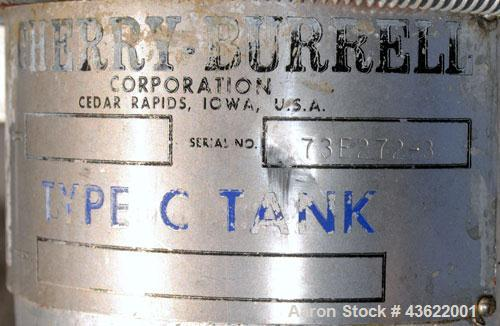 """Used- Cherry-Burrell Type C Tank, 10,000 Gallon, 304 Stainless Steel, Vertical. 126"""" Diameter x 172"""" straight side, dished t..."""
