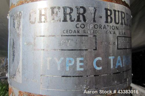 """Used- Cherry Burrell 5000 Gallon 304 Stainless Steel Mix Tank. Type CV. Approx. 8' Diameter x 12' 6""""Straight Side. Dished He..."""