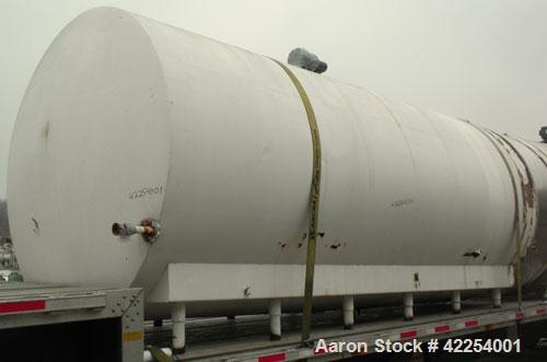 "Used- Cherry Burrell Tank, 7,000 Gallon, Model GHW, 304 Stainless Steel, Horizontal. 96"" diameter x 228"" straight side, dish..."
