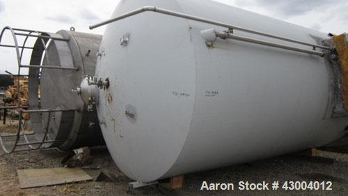 Used- Cherry-Burrell Tank, 9000 Gallon, Model SVW, Stainless Steel, Vertical. Dished top, flat bottom. Jacketed on side bott...
