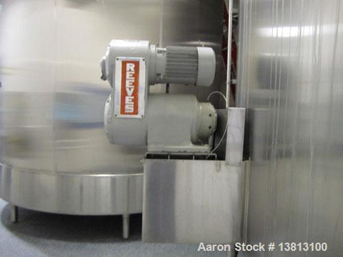 Used-Cherry Burrell 8000 Gallon Vertical Stainless Steel Tank.Side mounted 5 hp agitator, side manway, sightglass, 12' diame...