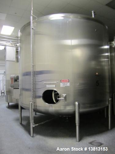 Used- 8,000 Gallon Stainless Steel Cherry Burrell Agitated Mixing Tank