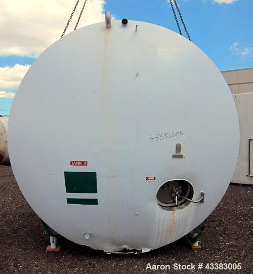 """Used- Cherry-Burrell Storage Tank, 5000 Gallon, 304 Stainless Steel, Horizontal. 120"""" Diameter x 84"""" straight side, dished h..."""