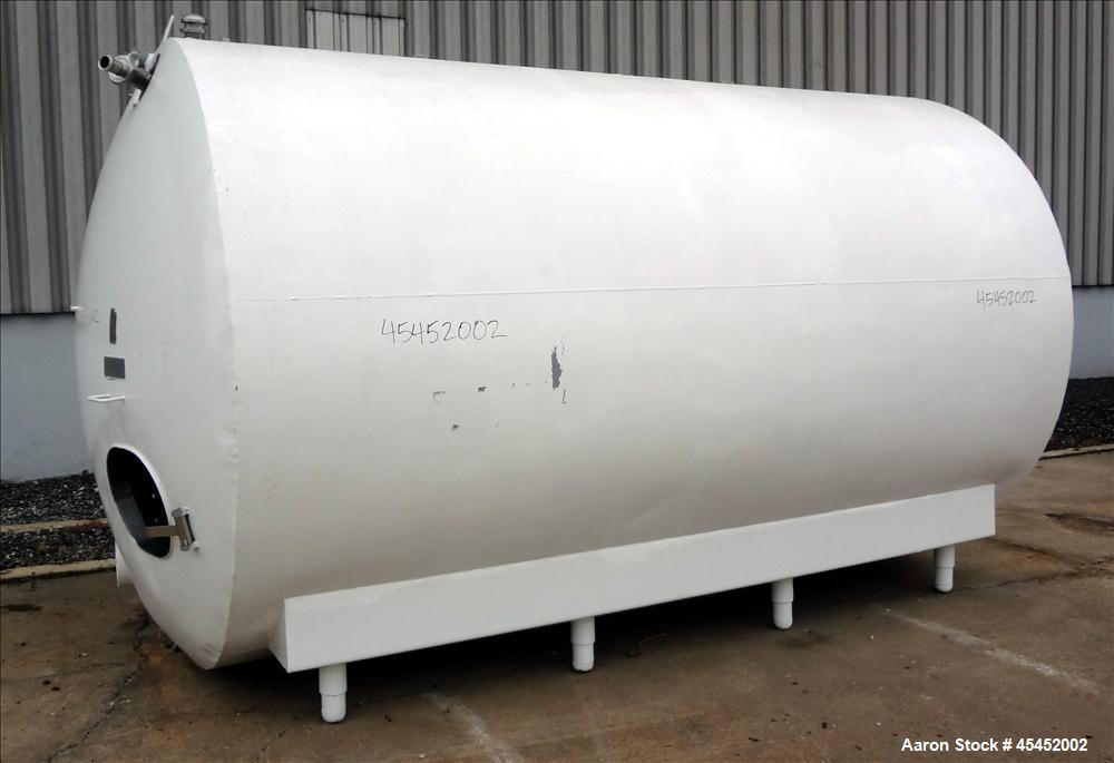 "Used- Cherry Burrel Tank, 5000 Gallon, 304 Stainless Steel, Horizontal. 96"" diameter x 152"" straight side, dished heads, ins..."