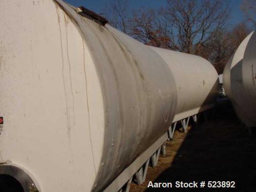 USED: 10,000 Gallon Cherry Burrell insulated horizontal storage tank.304 stainless steel interior, mild steel painted exteri...