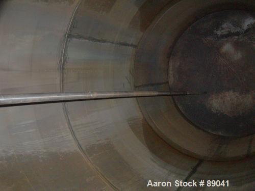 """USED: Chicago Boiler tank, 8500 gallon, 316 stainless steel, vertical. Approximately 108"""" diameter x 18' straight side, dish..."""