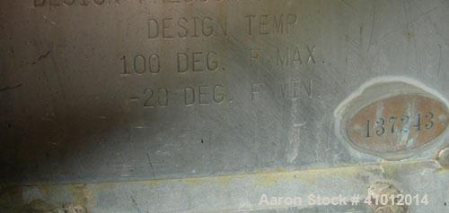 Used- Clawson Tank Company 2 Compartment Pressure Tank, 6,000 gallons, 3,000 gallons per compartment, 304L stainless steel, ...