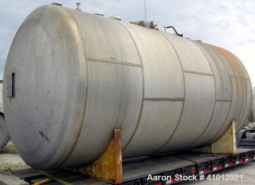 "Used- Clawson Tank Company Pressure Tank, 12,000 Gallon, 304L Stainless Steel, Horizontal.  125-1/2"" diameter x 222"" straigh..."