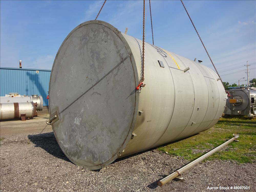 Used- Degussa Tank, 15,000 Gallon, 304L Stainless Steel, Vertical.