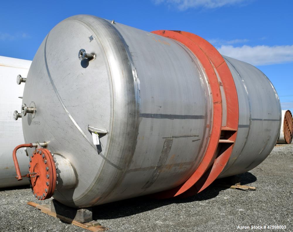 Unused- Crown Iron Works Pressure Tank, 10,600 Gallon, 304 Stainless Steel, Vert