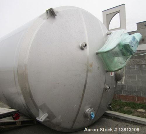 Used-DCI Insulated Stainless Steel Mixing Tank, 6,000 Gallon.  Top agitated, flat bottom, stainless steel, top manway and 1 ...