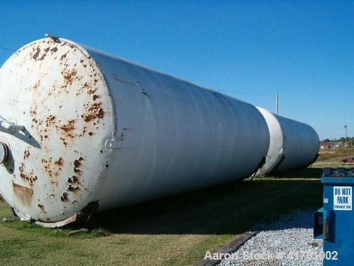 """Used- Dairy Craft Silo Tank, 30,000 Gallon, 304 Stainless Steel. Approximately 160"""" diameter x 444"""" straight side, dished to..."""