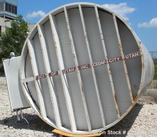 """Used- DCI Silo Storage Tank, 44,000 Liter, 11,627 Gallon, 1,553 Cubic Feet, 304 Stainless Steel, Vertical. 120"""" Diameter x 2..."""