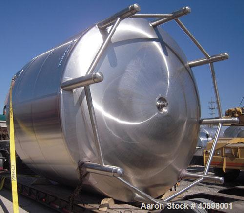 "Used- DCI Pressure Tank, 11,500 Gallon, 316L Electro-Slag Re-Melt Stainless Steel, Vertical. 156"" diameter x 108"" straight s..."