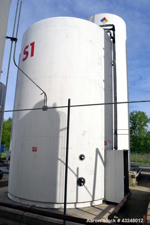"Used- DCI Jacketed Silo, 2004 Cubic Feet (15,000 Gallon), 304 Stainless Steel. 144"" Diameter x 18' straight side. Dished top..."