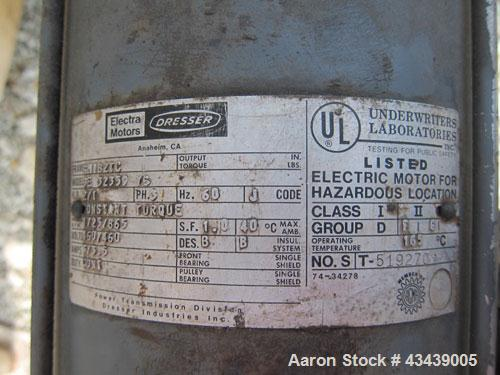 """Used- DCI Storage Tank, 7,500 Gallon, 304 Stainless Steel, Horizontal. 120"""" Diameter x 154"""" straight side, dished ends. Inte..."""