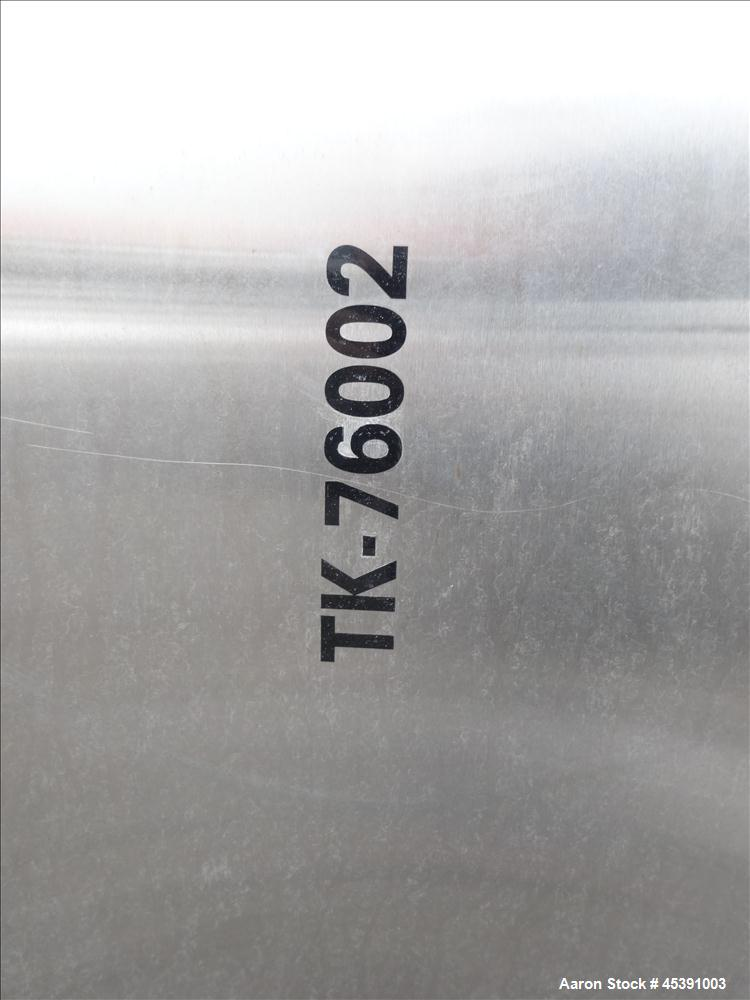 Used- 14,500 Gallon Stainless Steel DCI Dimple Jacketed Tank