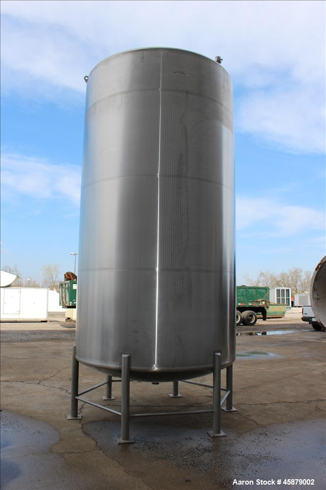 Used- DCI Storage Tank, 5,200 Gallon, 316/316L Stainless Steel, Vertical.