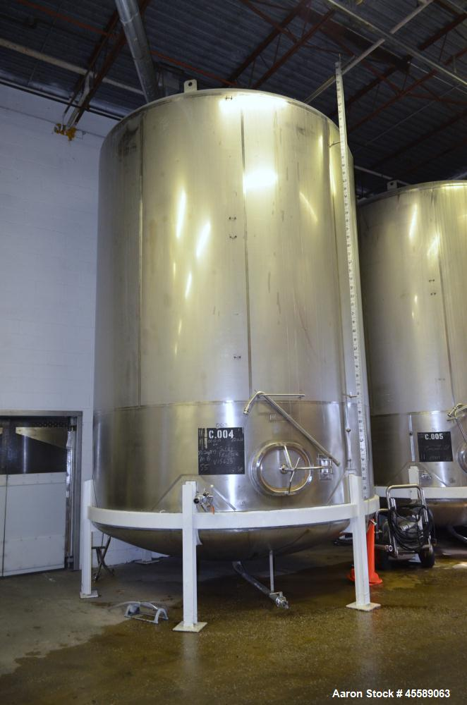 Used 12609 Gallon De Laval Stainless Steel Vertical Tank