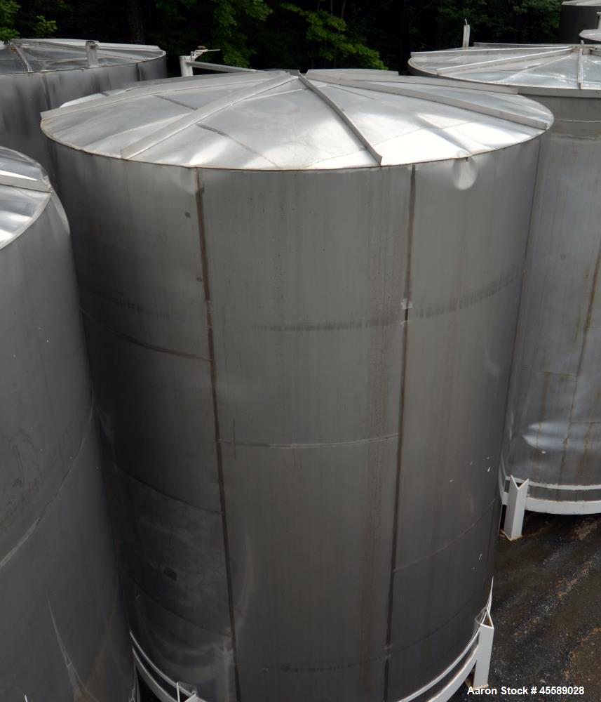 Used 15000 Gallon Douglas Brother 304 Stainless Steel Vertical Tank
