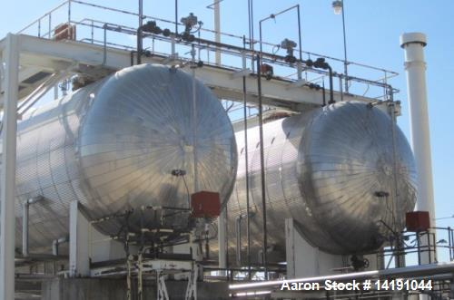 Used- 65,000 Gallon Horizontal Carbon Steel Pressure Vessel (bullet tank). Built by Eaton Metal Products. Rated 300 psi at 1...